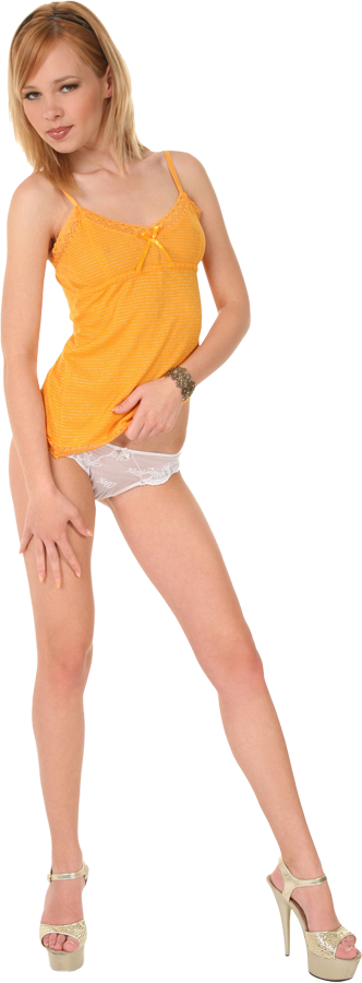 Nikita Orange candy istripper model