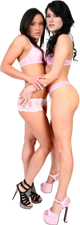 Niki Sweet & Lucy Bell Duo istripper model